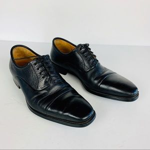 Magnanni Oxfords 9 D Black Leather Spain Lace Up